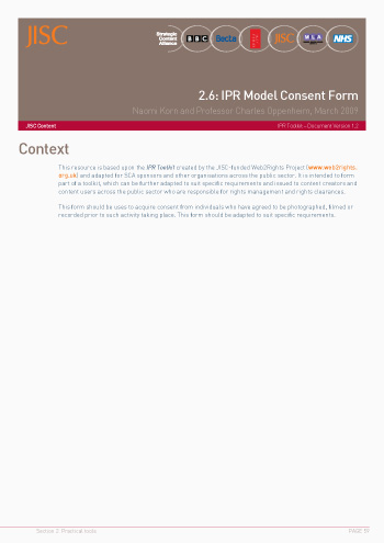 2.6: IPR Model Consent Form