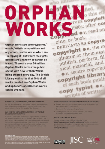 Orphan Works Poster