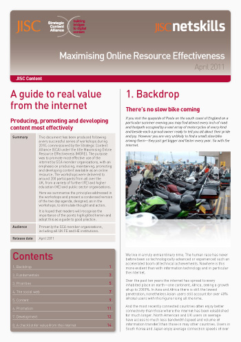 Maximising online effectiveness: A guide to real value from the internet